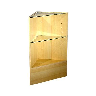 Economy Maple Triangle Corner Counter Open Style