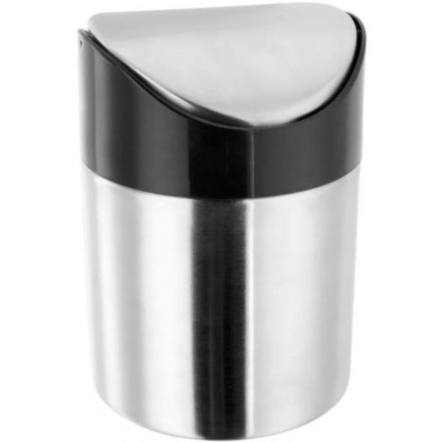 Judge Stainless Steel Table Top Mini Bin Work Top 13cm Tall x 9.5cm Dia Teabags