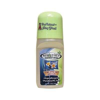Naturally Fresh Roll-On Deodorant Crystal Tropical Breeze 3 fl oz Liquid