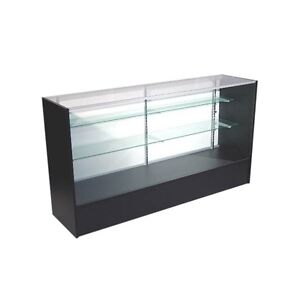 4' FULL VISION SHOWCASE - KNOCK DOWN BLACK DISPLAY CASE