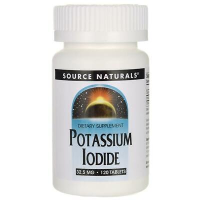 Potasio Yoduro Yodo 32.5mg 120 Tabletas Soporte Underactive Tiróide Función
