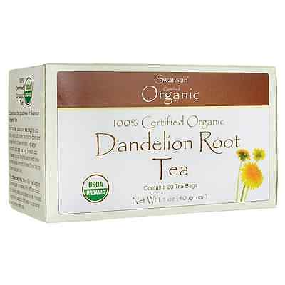 Swanson 100% Certified Organic Dandelion Root Te 20 Bag(S)