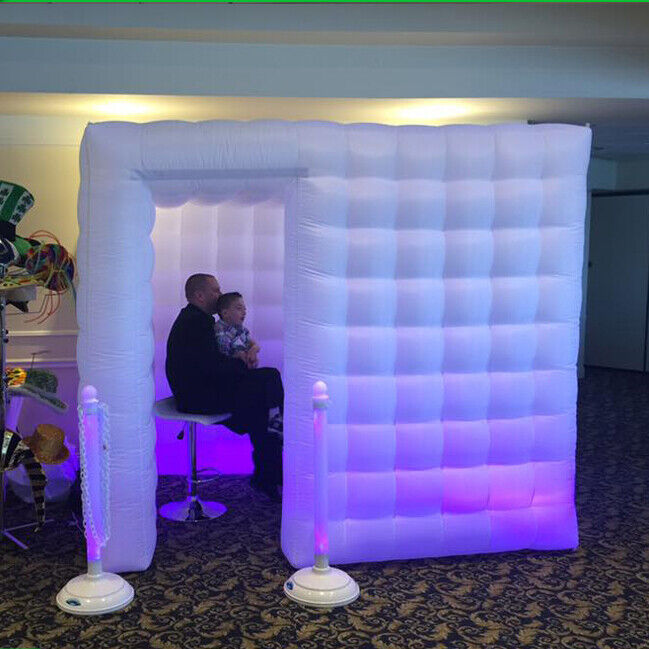 Portable Inflatable LED Photo Booth Photo Tent 7 Colors w/ Remote Controller