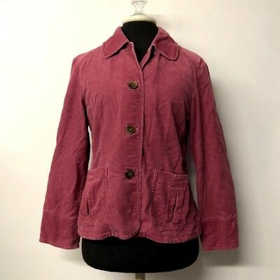 J Jill Dusty Pink Button Up Blazer Jacket Elbow Patches Velvety Womens Size XS for sale  Corryton
