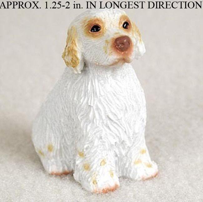 Clumber Spaniel Mini Hand Painted Figurine