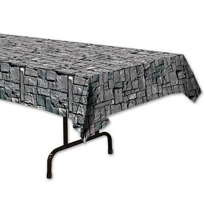 Stone Wall Plastic Banquet Tablecloth Medieval Renaissance Party Decoration