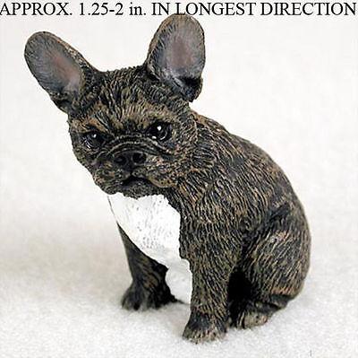 French Bulldog Mini Resin Hand Painted Dog Figurine