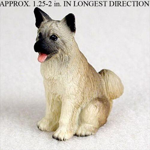 Akita Mini Resin Hand Painted Dog Figurine ...