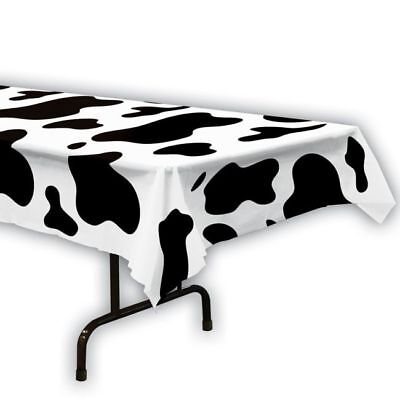 Cow Print Plastic Tablecloth (Western or Farm Theme Cow Print Plastic Banquet Table)