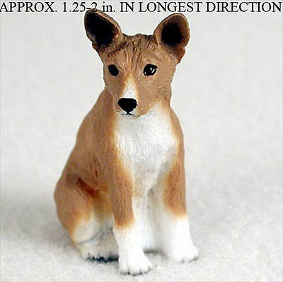 Basenji Mini Resin Dog Figurine