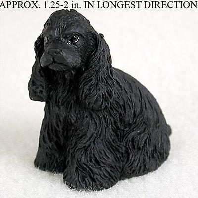 (Cocker Spaniel Mini Hand Painted Figurine Black)