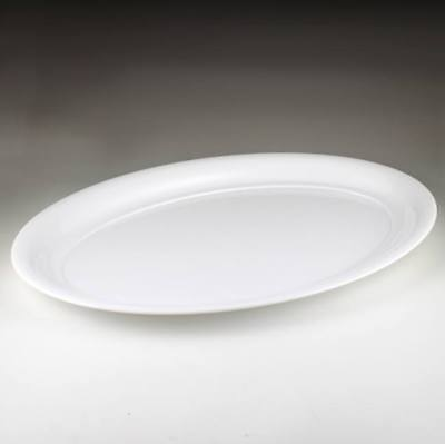 White Plastic Oval Serving Tray 16 X 11