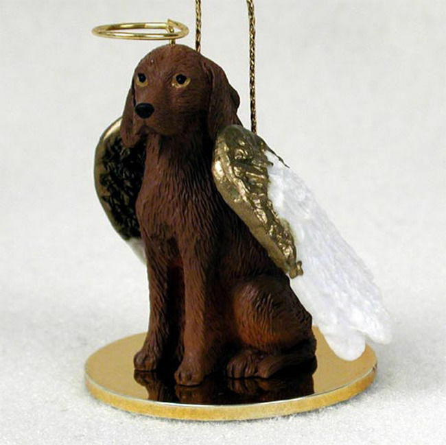Vizsla Ornament Angel Figurine Hand Painted