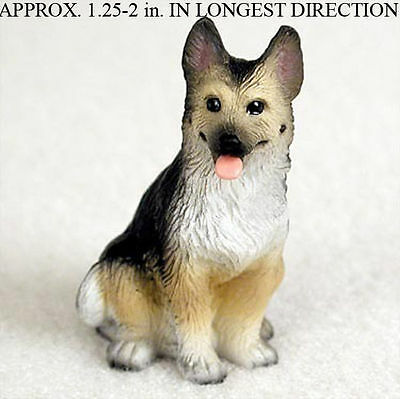 German Shepherd Mini Resin Dog Figurine Statue Hand Painted