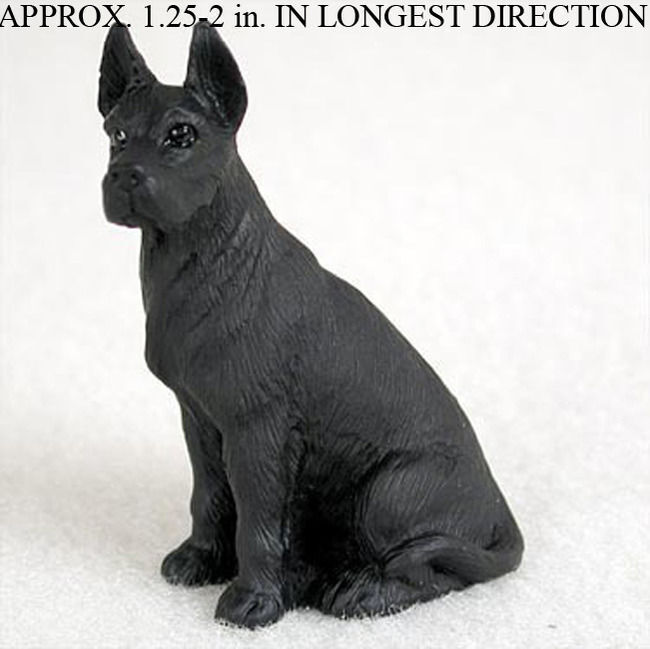 Great Dane Mini Hand Painted Figurine Black