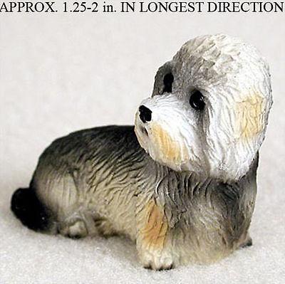 Dandie Dinmont Mini Resin Dog Figurine Statue Hand Painted
