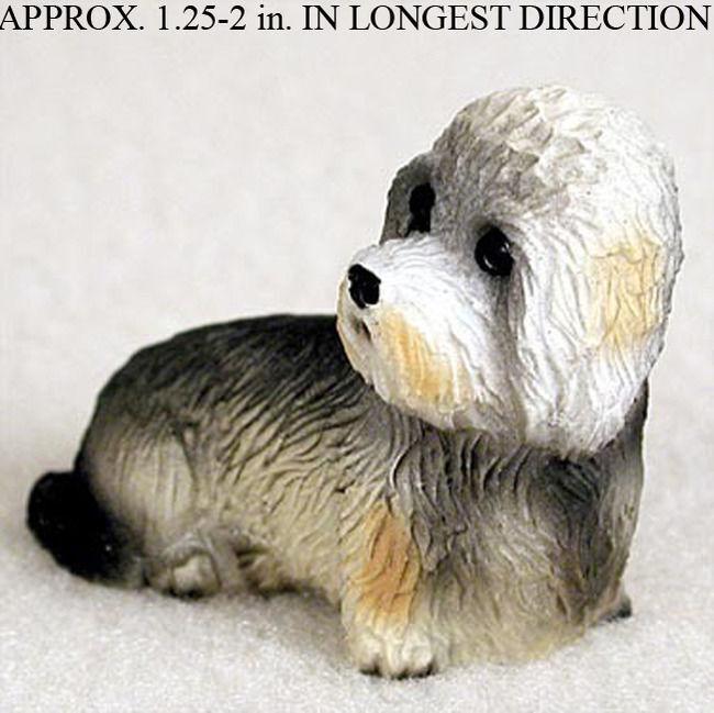 Dandie Dinmont Mini Hand Painted Figurine