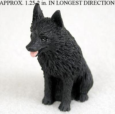 Schipperke Mini Resin Hand Painted Dog Figurine