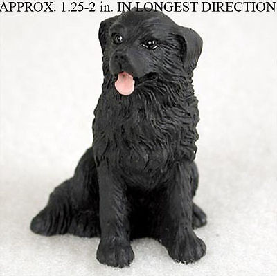 Newfoundland Collectible Mini Resin Hand Painted Dog Figurine