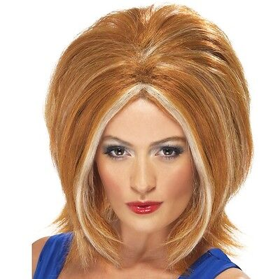 Ladies 90s 1990s Ginger Spice Fancy Dress Wig Girl Power wig New by Smiffys - Ginger Spice Halloween