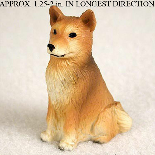 Finnish Spitz Mini Hand Painted Figurine