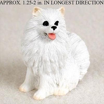 Mini American Eskimo Mini Resin Hand Painted Dog Figur