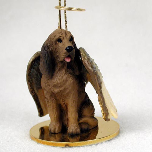 Bloodhound Ornament Angel Figurine Hand Painted