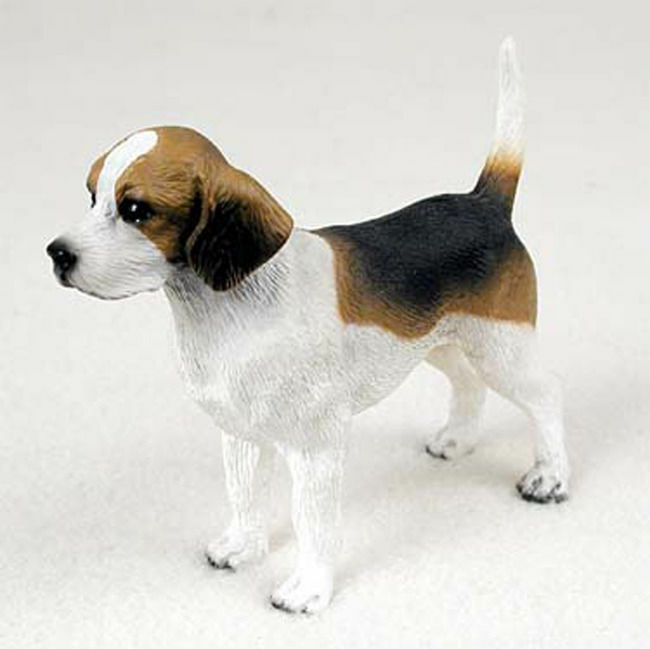 Beagle Figurine Hand Painted Statue