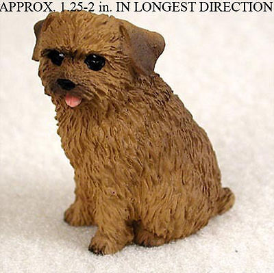 Norfolk Terrier Mini Resin Dog Figurine Statue Hand Painted
