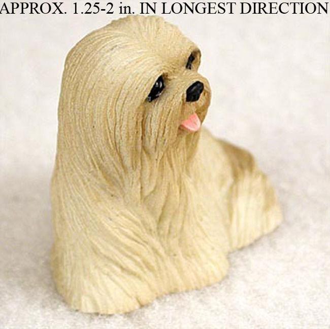 Lhasa Apso Mini Figurine Blonde