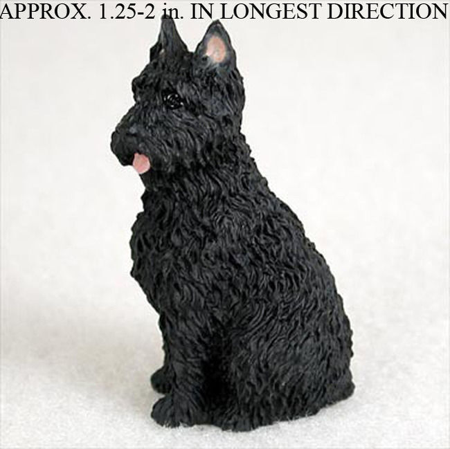 Bouvier Mini Hand Painted Figurine