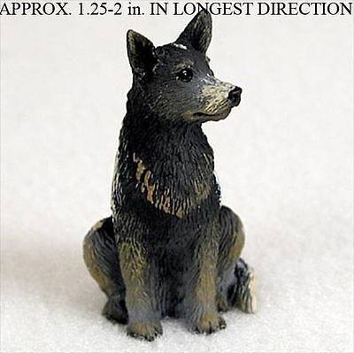 Australian Cattle Dog Mini Resin Hand Painted Dog Figurine Statue Blue