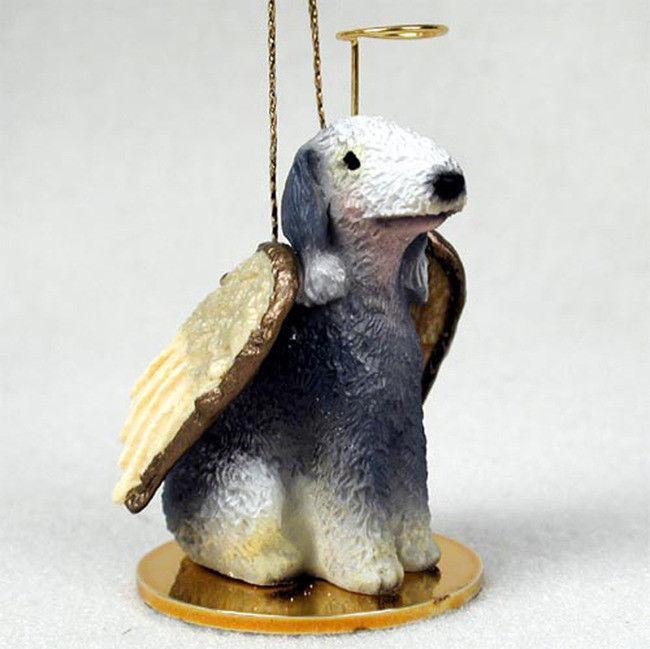 Bedlington Terrier Ornament Angel Figurine Hand Painted