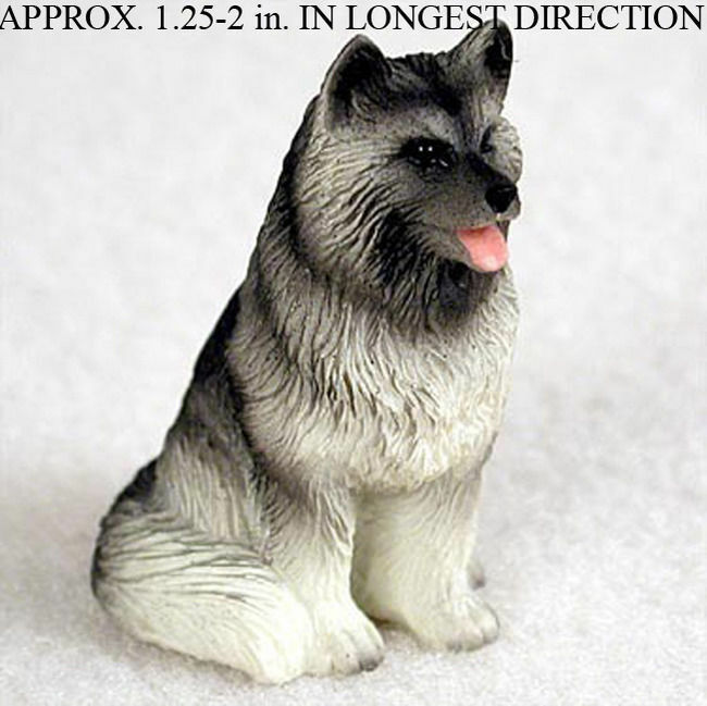Keeshond Mini Hand Painted Figurine