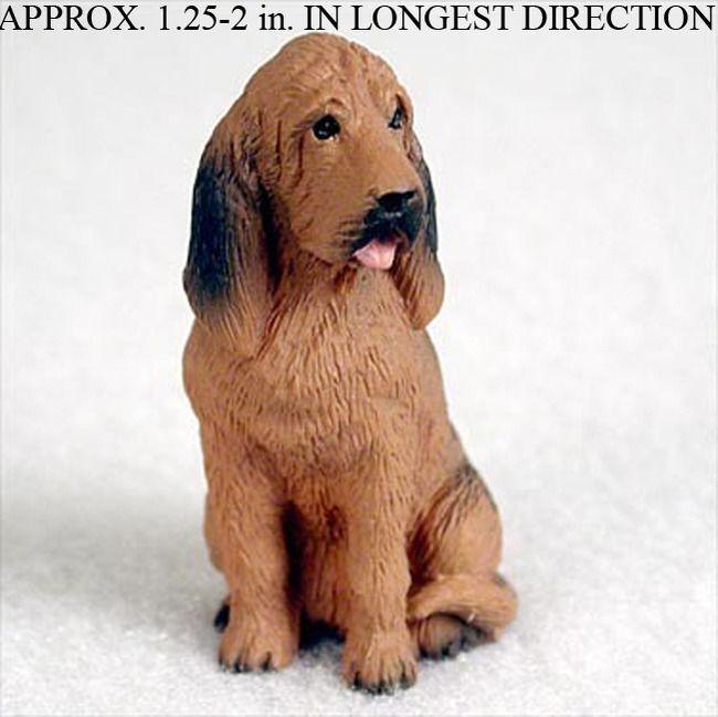Bloodhound Mini Hand Painted Figurine Hand Painted