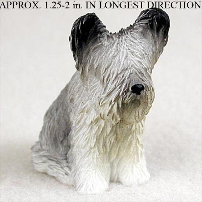 Skye Terrier Mini Hand Painted Figurine