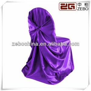 purple chair covers, table cloths
