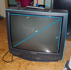Older Panasonic 28 inch Square TV with Remote