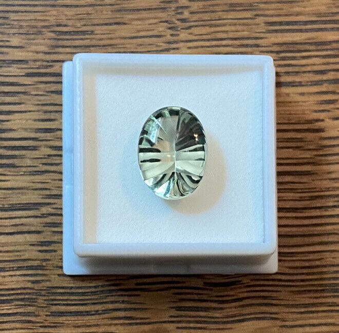 green amethyst prasiolite 16x12mm oval 8.70ct