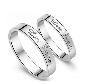 Simple Silver Wedding Rings For Women Sz4 11 S925 Sil...
