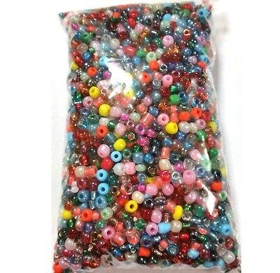Rocailles Perlen 4mm 100g Glas Rund Mehrfarbig Opak Silbereinzug BEST Z13#100g Runde 13