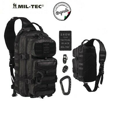 Zaino Mil-tec Monospalla Incursore Tactical Black Backpack US Assault 29 Litri