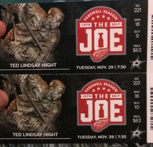 RED WINGS TICKETS TUES NOV 29 Windsor Region Ontario image 1