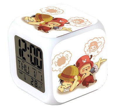 One Piece Anime Glowing LED Colour Change Digital Alarm Clock