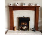 Hardwood Fireplace plus Electric flame effect fire
