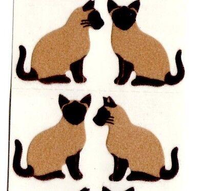 Sandylion Sticker Aufkleber SIAM KATZEN CATS STOFF VINTAGE