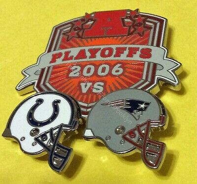 PLAYOFFS 2006 AFC INDIANAPOLIS COLTS VS NEW ENGLAND PATRIOTS PIN STORE SALE