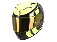 New Scorpion EXO-1200 Stream Tour Blk/Neon Yellow Helmet - 5 Year Warranty
