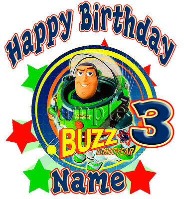 Buzz Lightyear Disney Personalized Birthday T shirt Gift Tee  present add name](Disney Personalized Gifts)