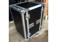 18 unit spider rolling rack flight case, like new with extras